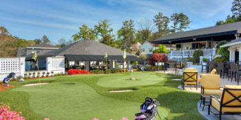Watch the action at Magonlia Greens from the Golf Bar