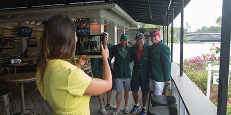 Get your picture taken in a Green Jacket at the Pro Shop